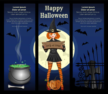 Poster concept design for Halloween. Vector banner