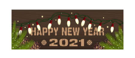 Happy New Year. Vector Christmassy banner card Ilustração