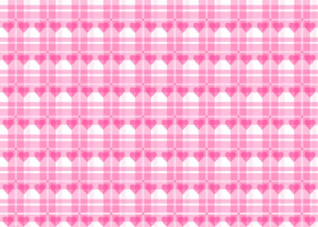 Pink tablecloth with hearts for romantic events Ilustração