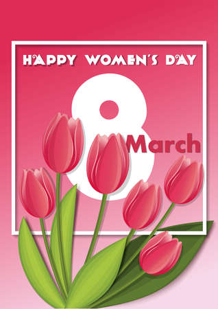 Postcard to March 8. Happy Womens Day design