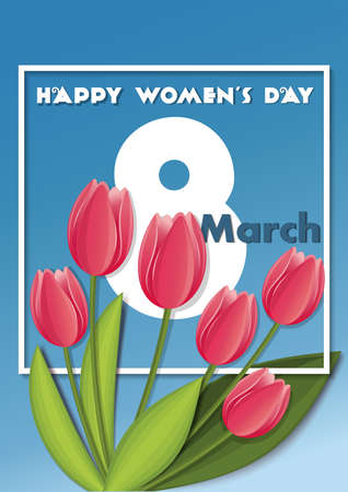 Greeting card to March 8. Happy Womens Day