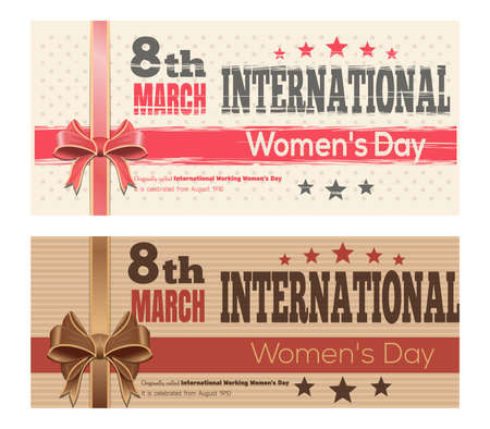 8 March International Womens Day themed flyers set