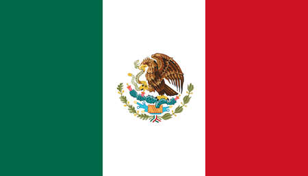 National state flag of Mexico. Vector illustration Vecteurs