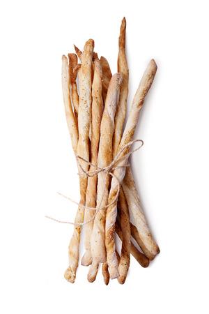 grissini: grissini. sticks of dry crisp bread isolated on white background Stock Photo