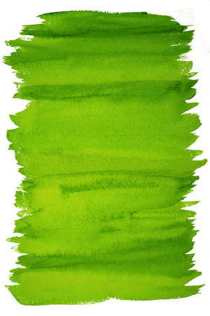abstract greenery watercolor background Stock Photo