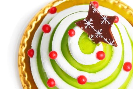 mas: Christmas cake isolated