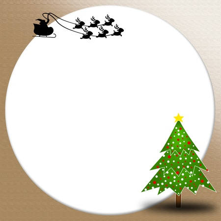 Christmas tree background with blank photo
