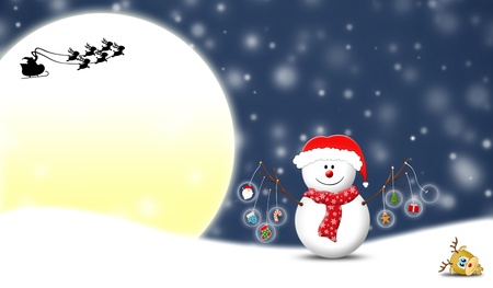 snowman holding Christmas items  Stock Photo - 11852921