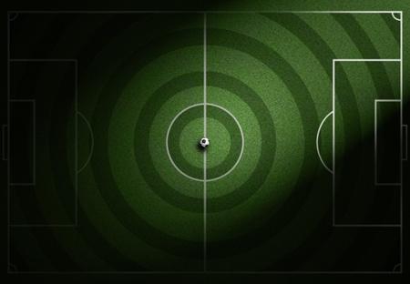 soccerfield: voetbalveld met voet bal op gras