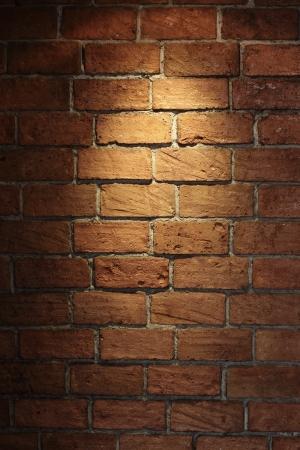 Shined brick wall