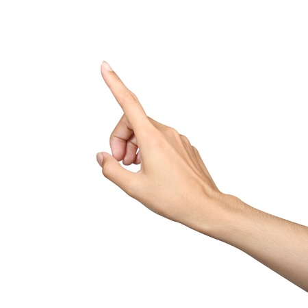 dedo indice: punto dedo aislado fondo blanco