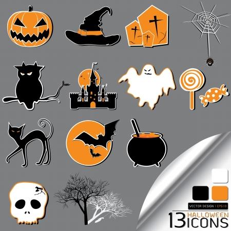 Halloween Icons Stock Vector - 16679116