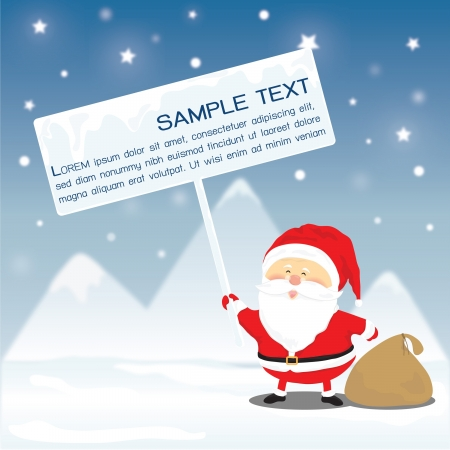 Santa clause showing blank sign Vector