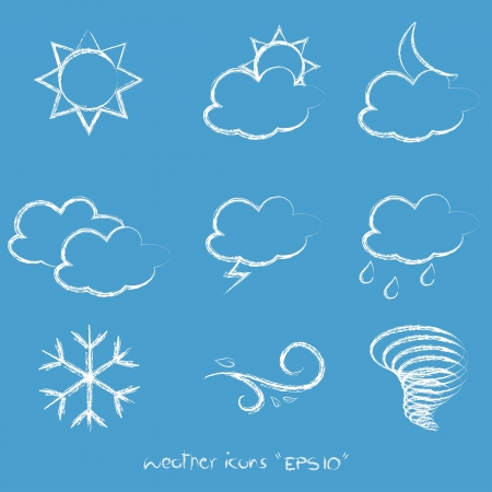 Weather icons Stock Vector - 16679158