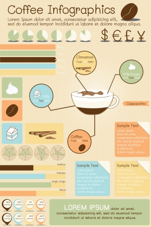coffee infographics Vector