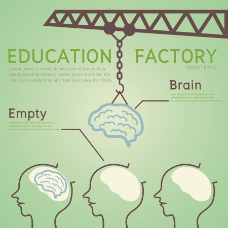 thinking student: Education Concept Illustration