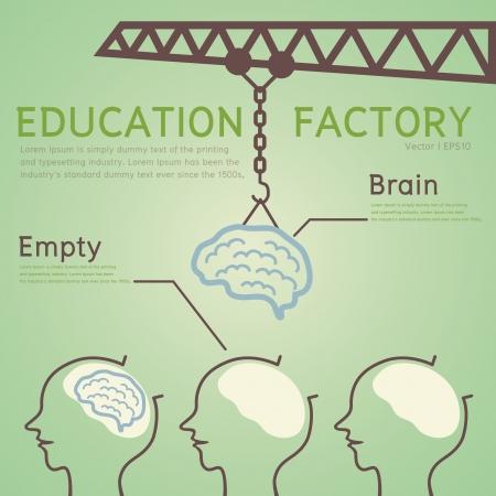 Onderwijs Concept Vector Illustratie