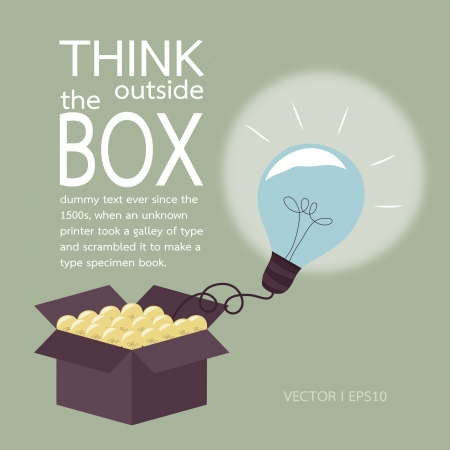 outside box: Think outside the box concept