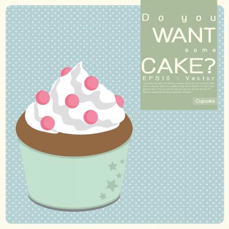 Cupcake illustration Icon Stock Vector - 17173918