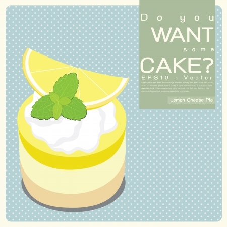 cheese cake: Lemon Cheese Pie illustration