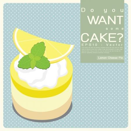 pie de limon: Limón ilustración Pie Queso