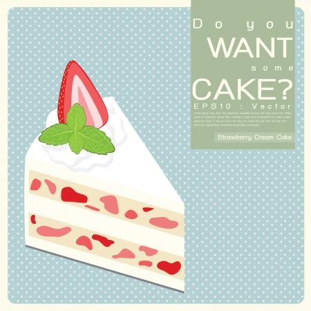 Vanilla Cream Cake illustration Stock Vector - 17173984