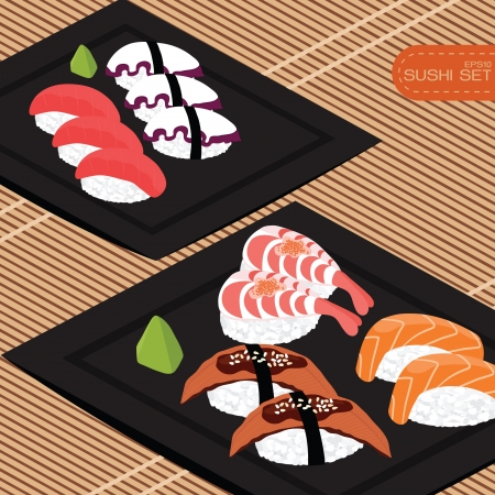 Sushi set,  Stock Vector - 17466243