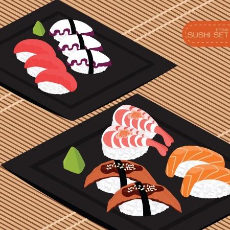 Sushi set, Stock Vector - 17466243