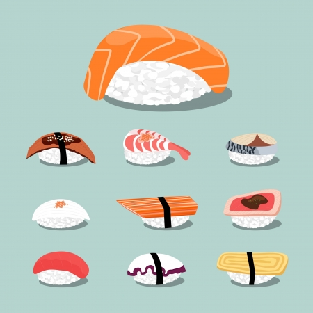 kobe: Sushi set icon Illustration