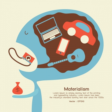 materialism: Consumer, vector Illustration
