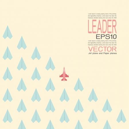 follow the leader: Leiderschap, vector