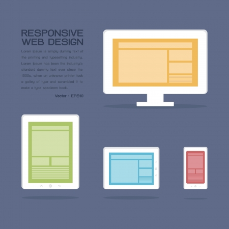 Responsive Web Design, vector Stock Vector - 18429579
