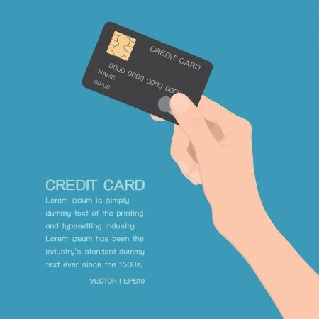 Hand houden creditcard Vector Illustratie