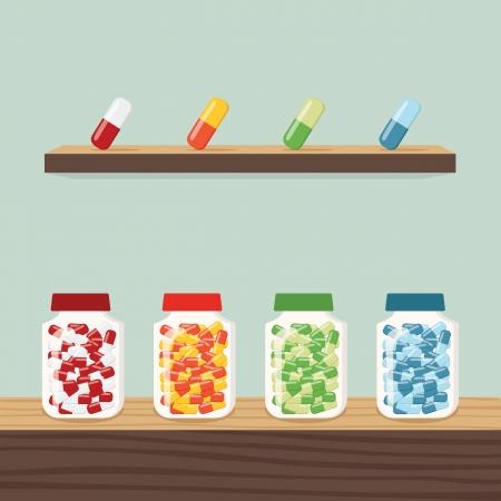 Medicine, vector Illustration