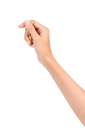 Hand pose like holding isolated on white