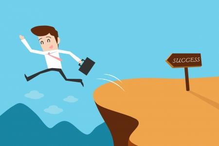 determine: Businessman and solution Illustration