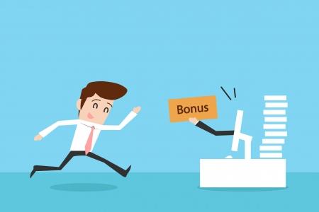 Businessman and bonus