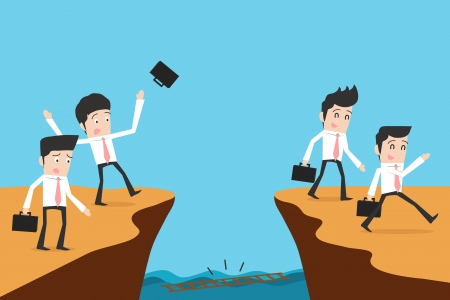Businessman and solution Illustration