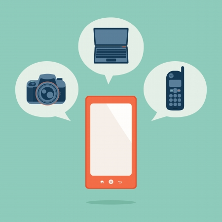 Smart phone, vector Stock Vector - 19413824