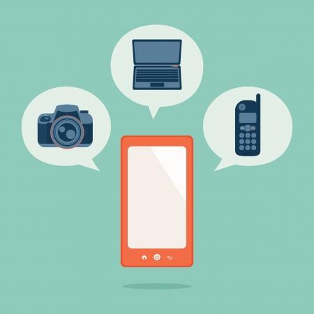 Smart phone, vector Stock Vector - 19413824