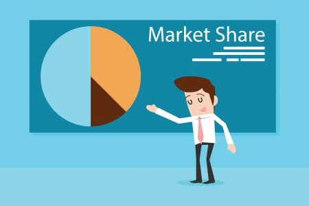 Market Share, Vector Stock Vector - 19582272