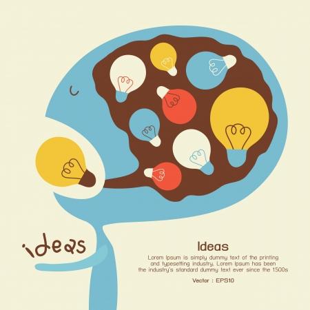 lightbulb idea: Idea concettuale