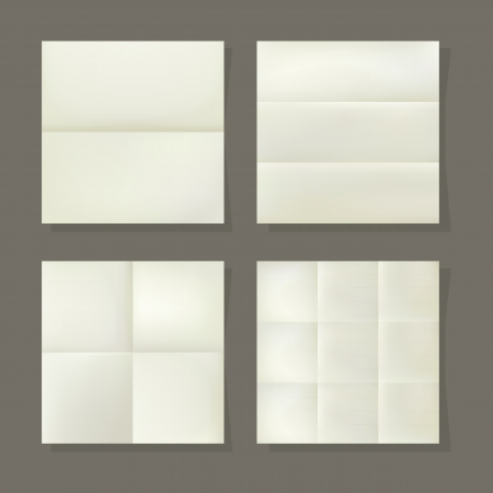 Folded paper, vector