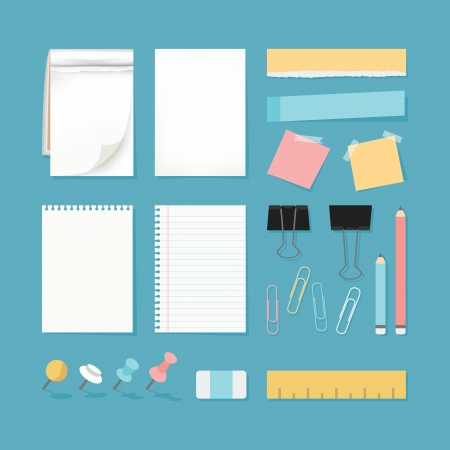 Paper and stationery, vector Vector