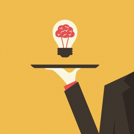 cerebro: Sirviendo a una idea, vector