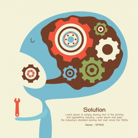 Solution conceptual Stock Vector - 21045456
