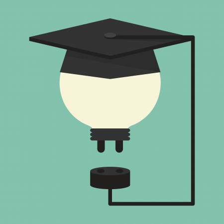 plugged: Education concept, vector