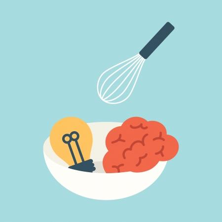 Creative food Vector