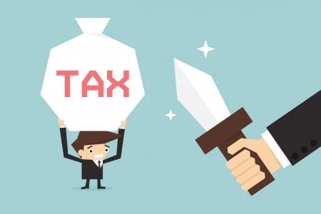 Business man pay tax Illustration