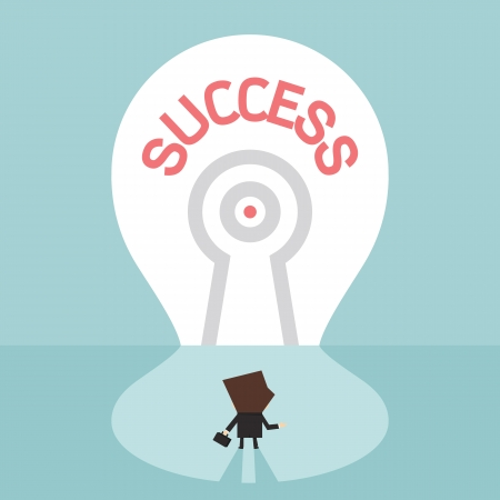 Key to success, vector